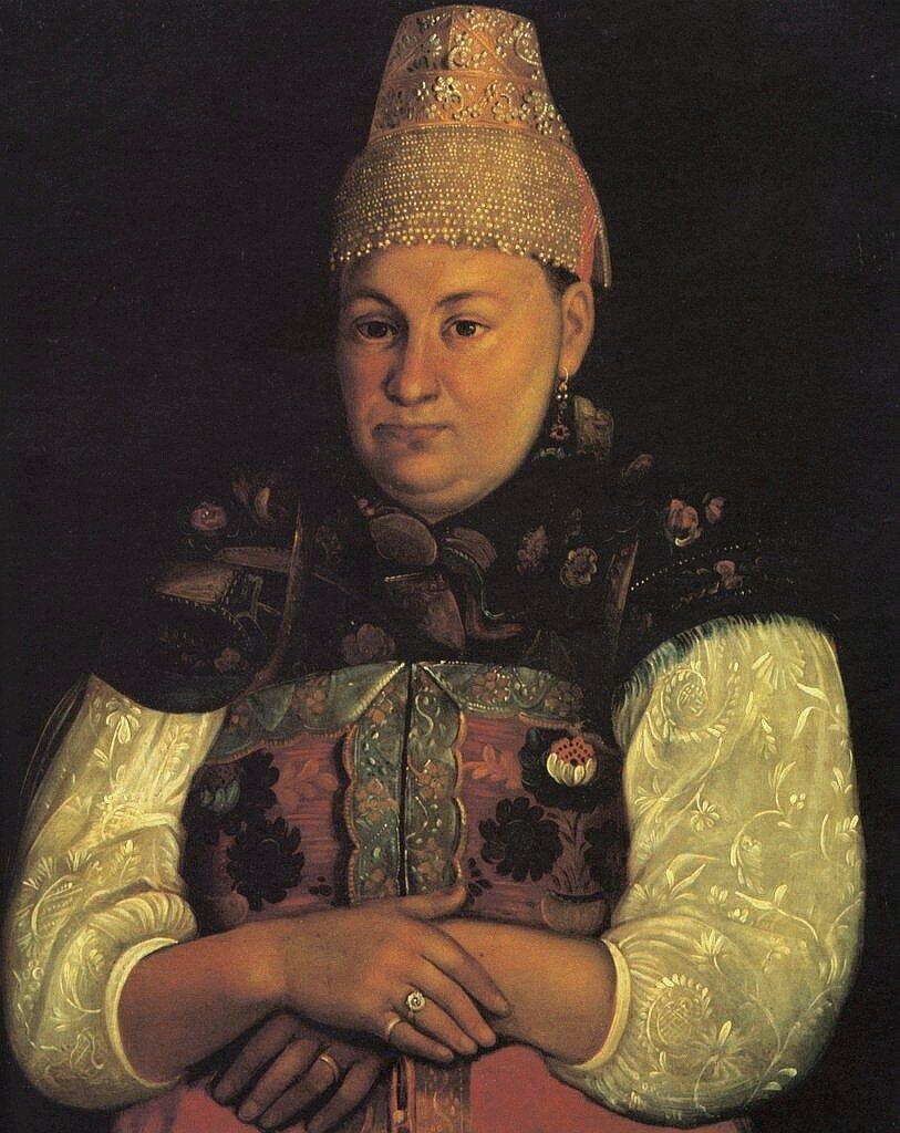 Портрет тверской мещанки. н.х. 1840-е гг.