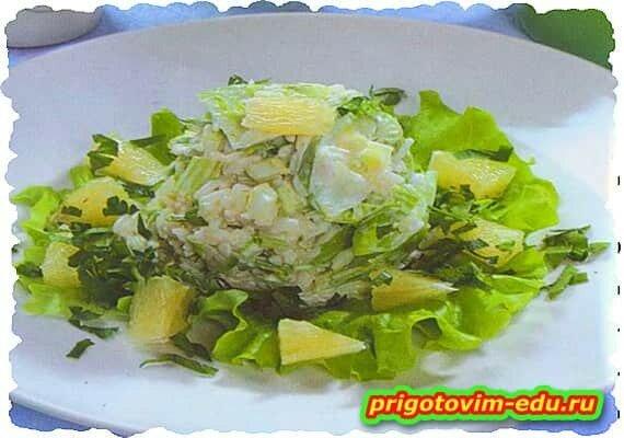 Салат из риса с сельдереем