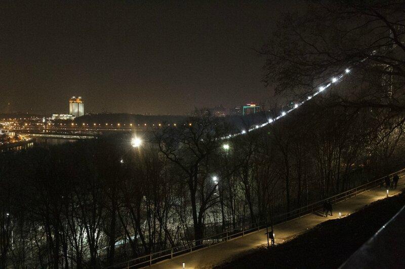 Трамплин, Воробьевы горы, Москва