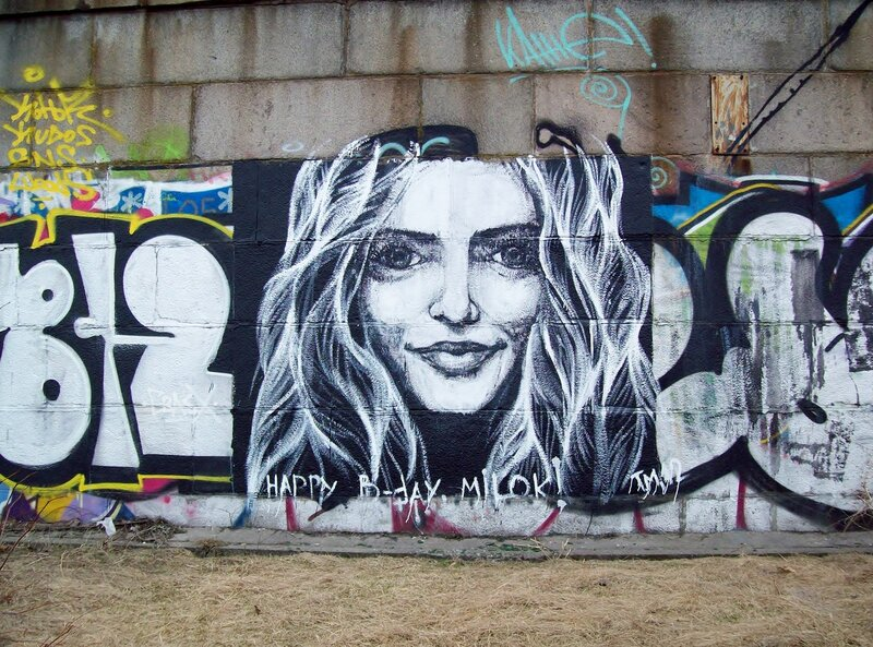Граффити Улыбка девушки