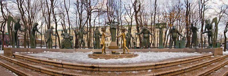 """Памятник """"Дети - жертвы пороков взрослых"""". Панорама."""