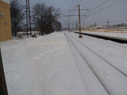 В конце ноября платформы засыпал снег
