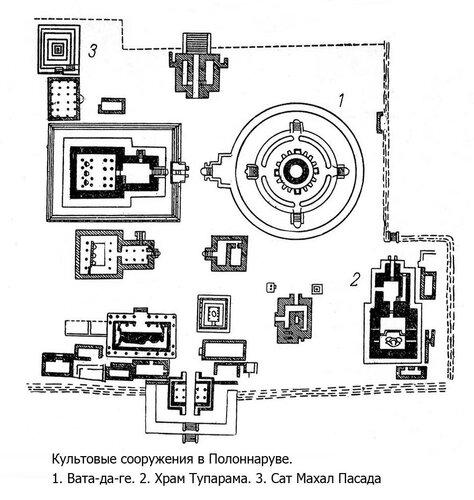 Храмовый комплекс в Полоннаруве