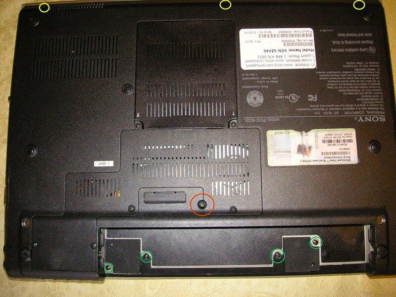 Sony pcg-4n5p схема разборки
