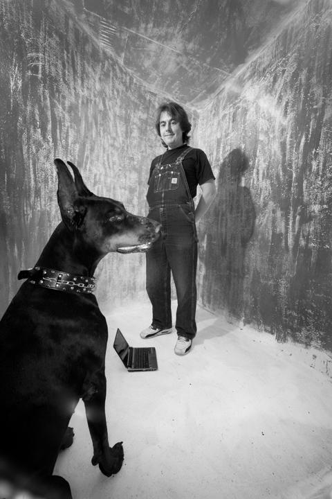 профессиональная фотосъемка черно-белого портрета. фотографии блогеров из студии Толль