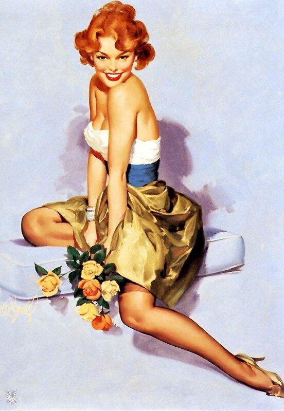 Gil Elvgren (1914-1980). Silvania Calendars