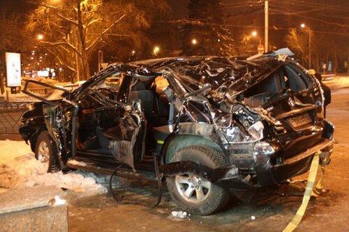Тойота Прадо после опрокидывания