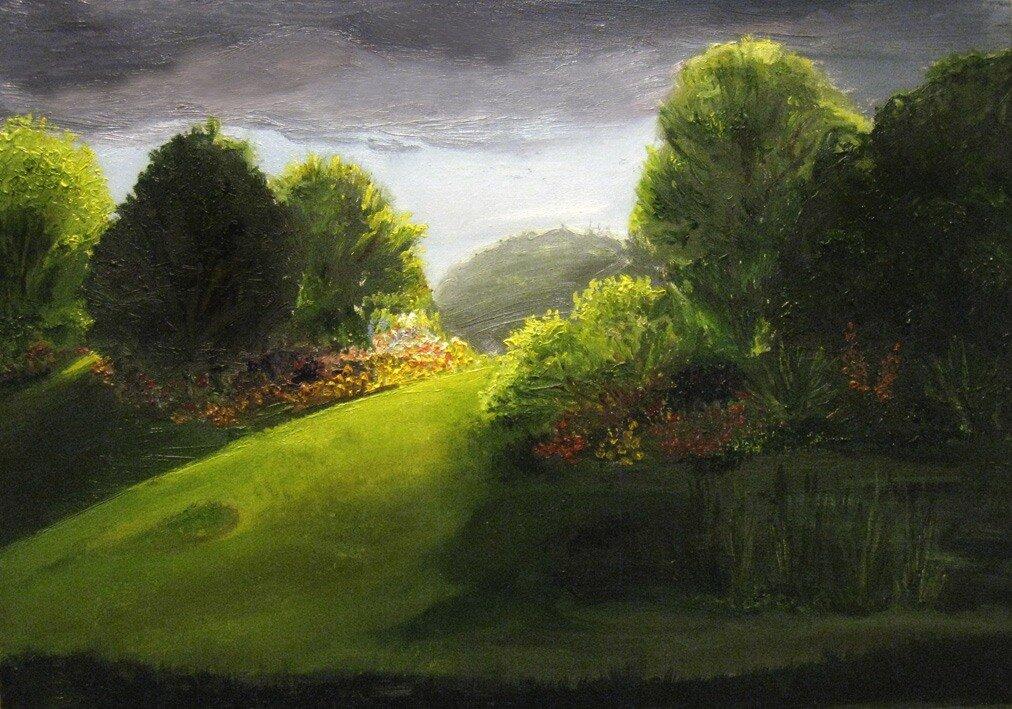 сад перед грозой