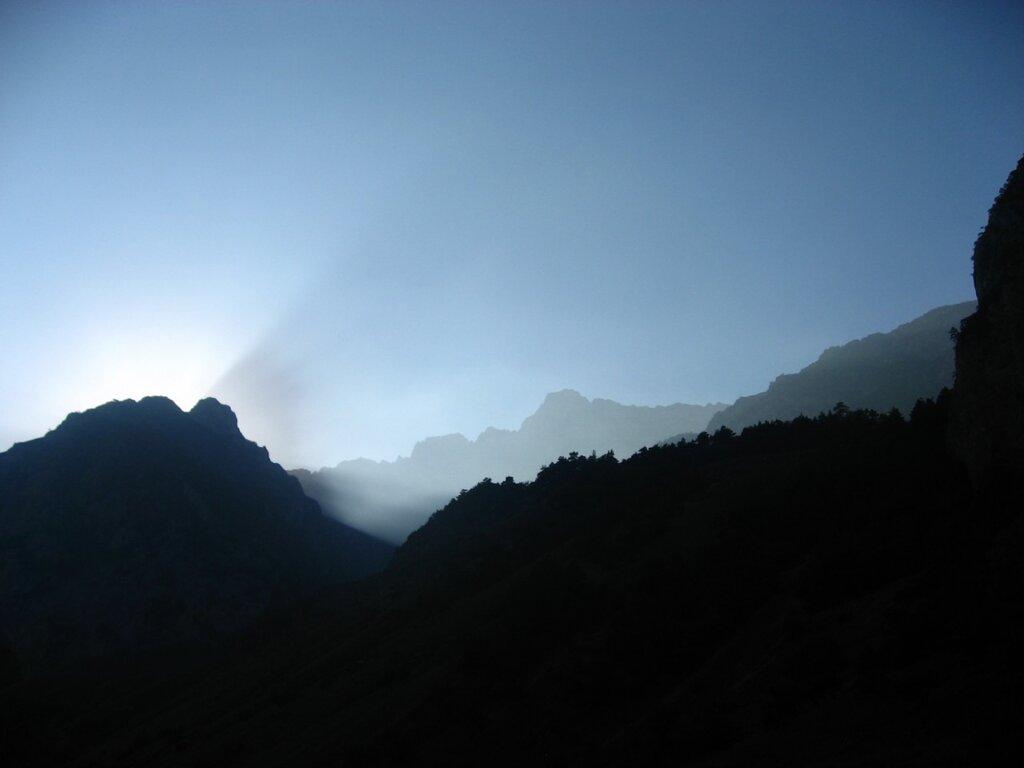 Закат в горах Алании