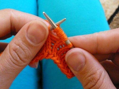 0 4544f 3a0e9a2e L Уроки вязания спицами. Как связать шишечки спицами.