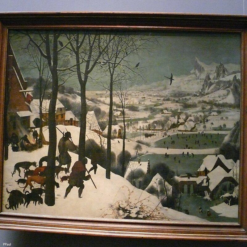 """Питер Брейгель """"Охотники на снегу (зима)"""". 1565 г"""