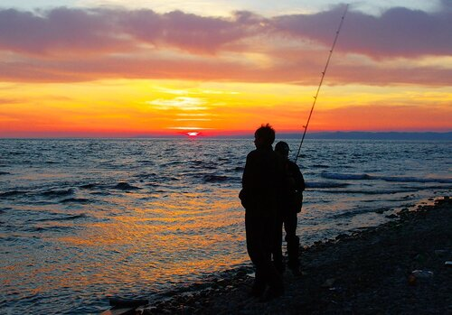 Рыбаки на Байкале