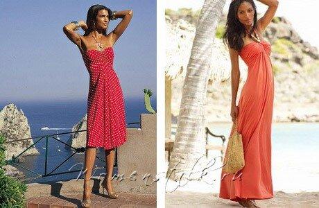 сшить пляжное платье