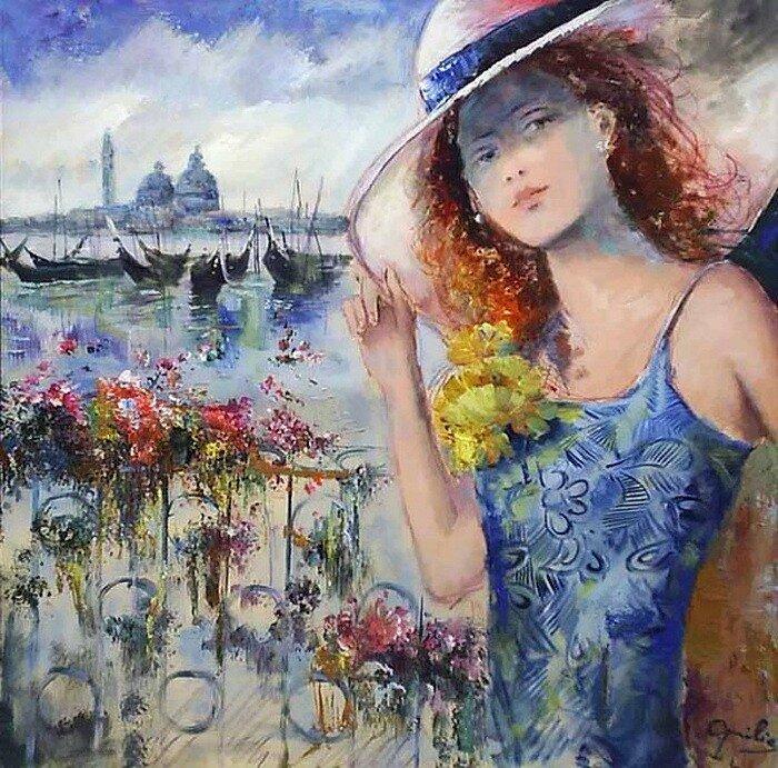 Автор картины Chantal Lovilla ( Шанталь Ловилла )