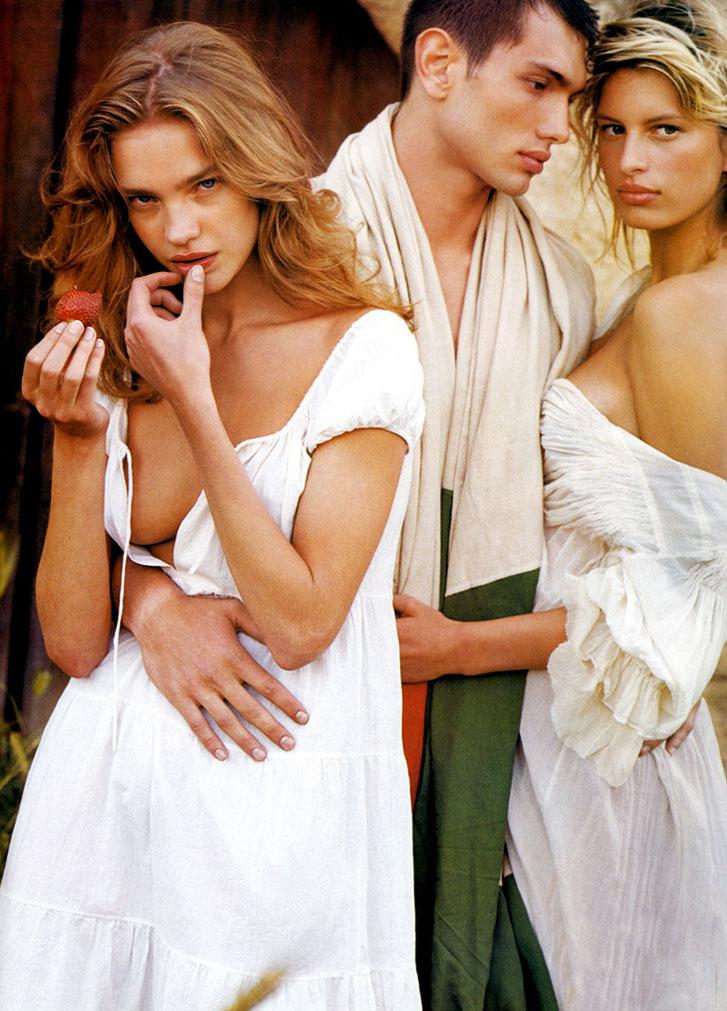 модель Наталья Водянова / Natalia Vodianova, фотограф Bruce Weber