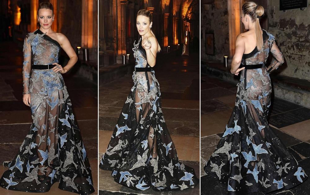 Рэйчел Макадамс в просвечивающемся платье