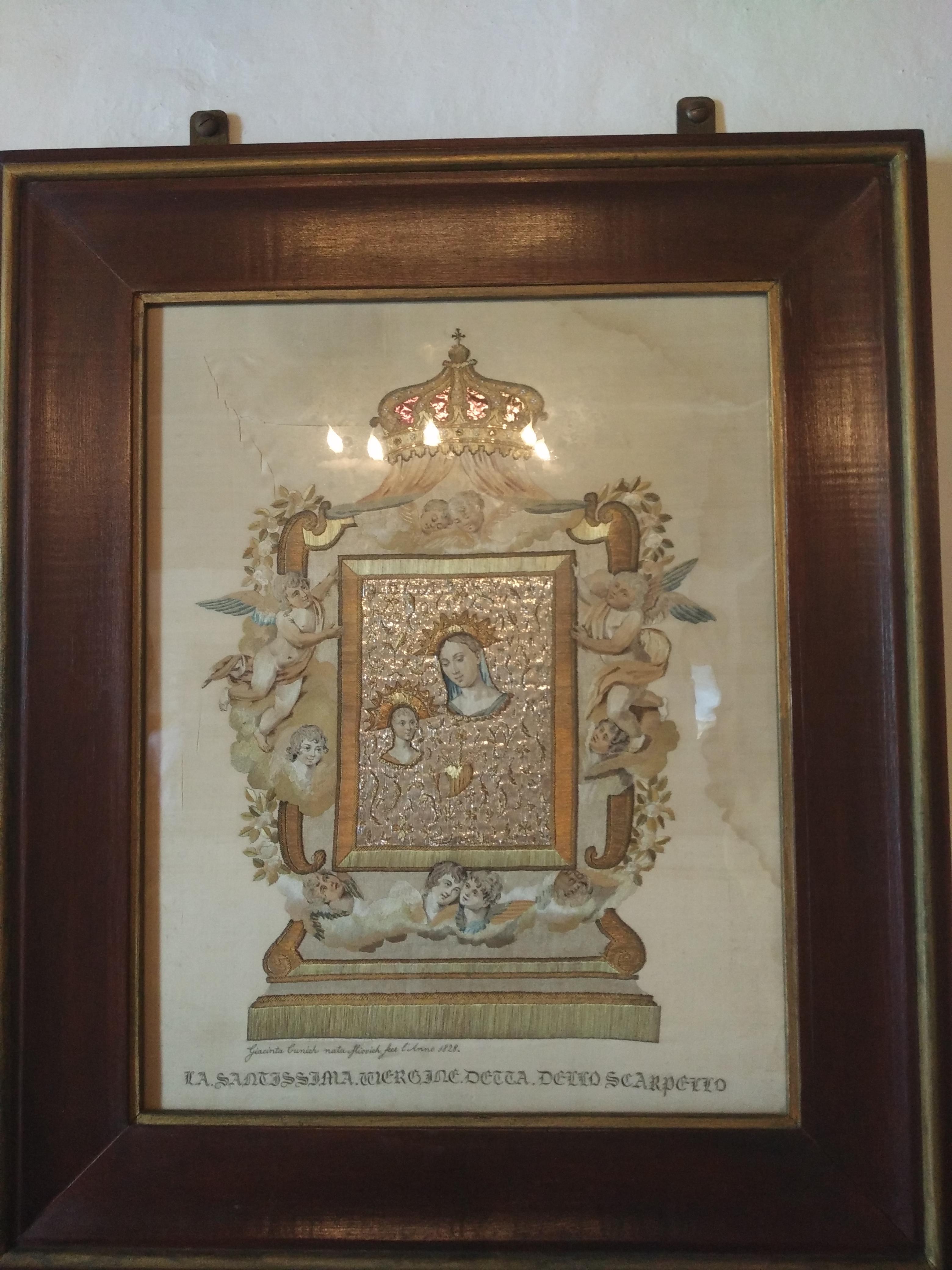 икона Богородицы, вышитая волосами