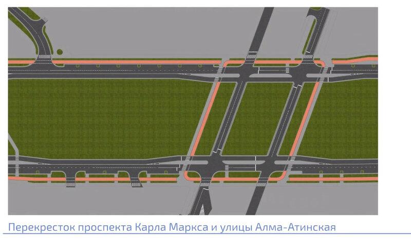 Визуализация проекта реконструкции пр. Карла Маркса