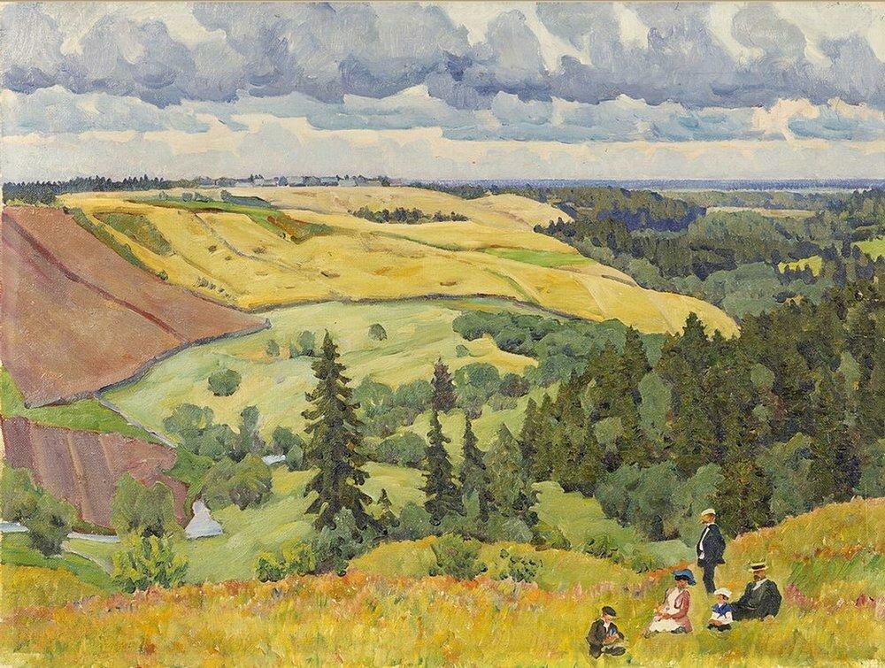 1910-е Пейзаж Новгородской губернии. 1910-е (q) Казань.jpg