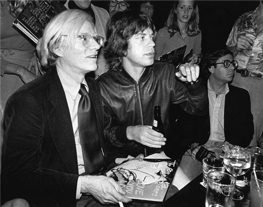 6. Энди Уорхол и Мик Джаггер, 1977.