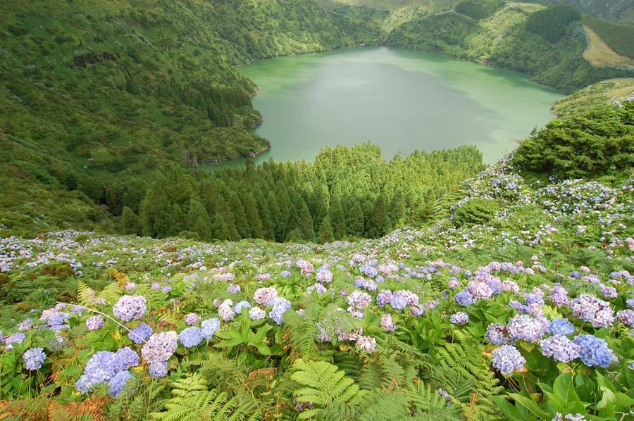10. Фаял (Португалия) Роскошный остров Фаял – самая западная точка Европы. Вулканическое происхожден