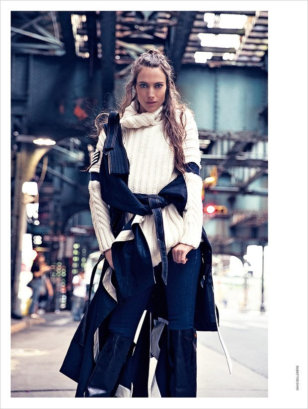 Jessica Miller Takes the Streets of New York for Marie Claire Italia