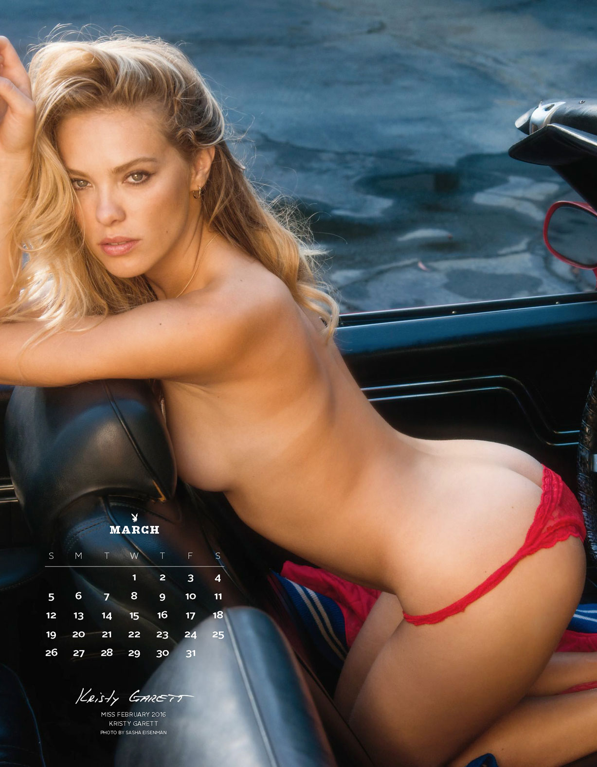 Playboy US Playmates 2017 calendar - Miss February 2016 Kristy Garett / Кристи Гаретт – Девушка месяца февраль 2016 журнала Плейбой США