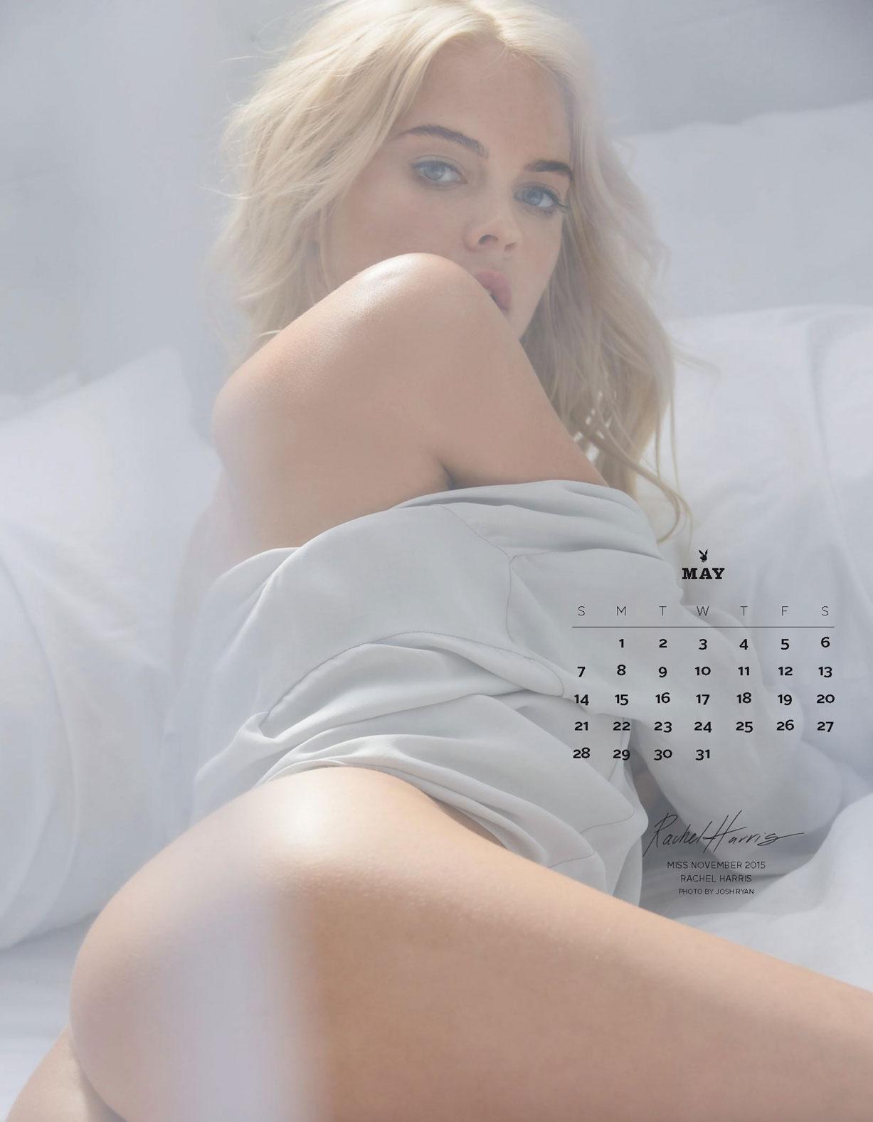 Playboy US Playmates 2017 calendar - Miss November 2015 Rachel Harris / Рейчел Харрис – Девушка месяца ноябрь 2015 журнала Плейбой США