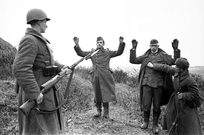 пленные немцы, как русские немцев били, потери немцев на Восточном фронте, военнопленные немцы, немцы в советском плену
