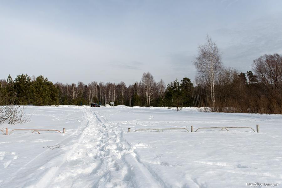 след от снегохода