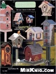 Книга Bird house 2 painted wood №2239