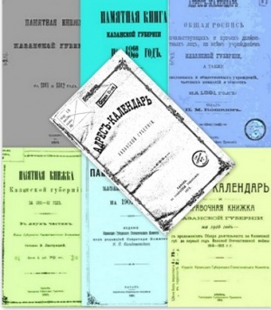 Книга Адрес-Календари и Памятные книжки Казанской губернии 1861-1916 гг.