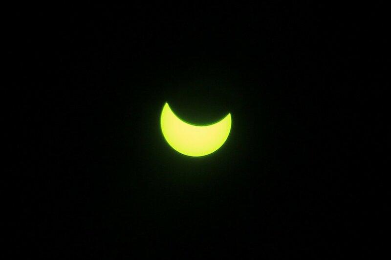 Солнце во время частного солнечного затмения 20 марта 2015 года