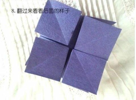 Шар-оригами из бумажных сердец
