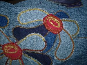 Элемент аппликации из джинсы