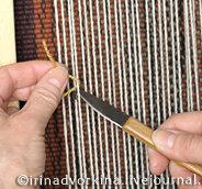нож-крючок для вязания ворсовых узлов