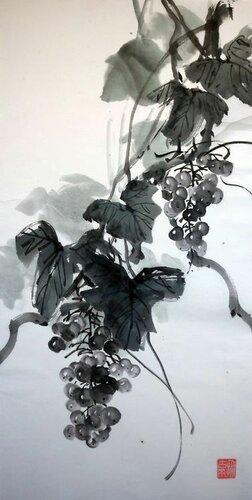 2014 01 12 Виноград тушью 68х33 см.JPG