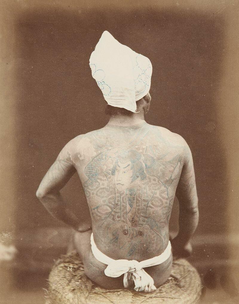 Татуированный японец. 1880