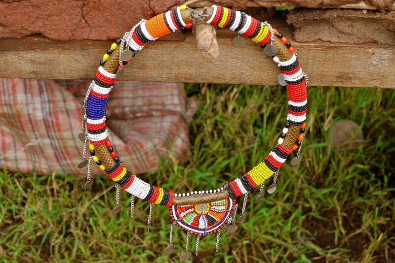 Бисерный пост африканские украшения