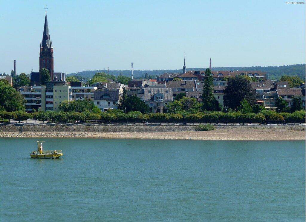 Вид на Рейн и Бонн.