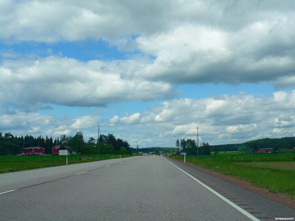 По дороге из Коувола в Элимяки.