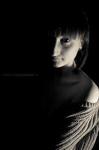 Анна портрет, ЧБ, девушка, Анна, тени, фотосессия, фотосессия в студии