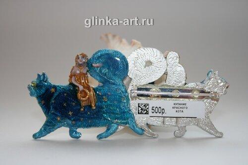 glinka-art.ru, Сергей и Лариса Поповы, команда художников глинка-арт, кот, коты,