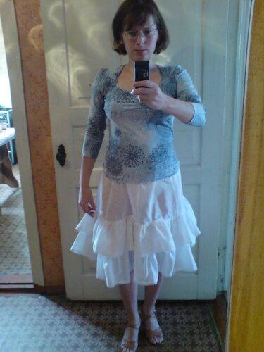 Луки с юбками в складку