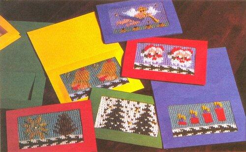 Рождественские вязаные открытки