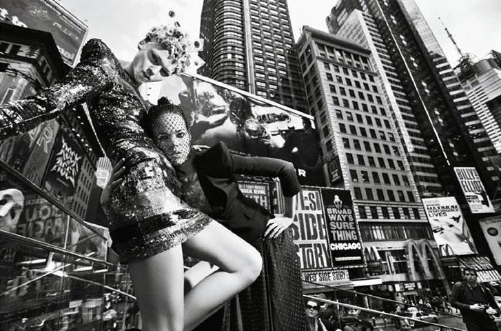 модели Фрея Беха Эриксен и Саша Пивоварова / Freja Beha Erichsen and Sasha Pivovarova, фотограф Mario Sorrenti