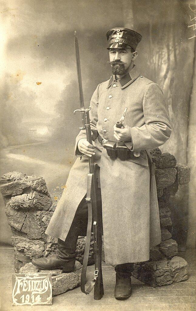 Немецкий солдат, Бельгия 1914