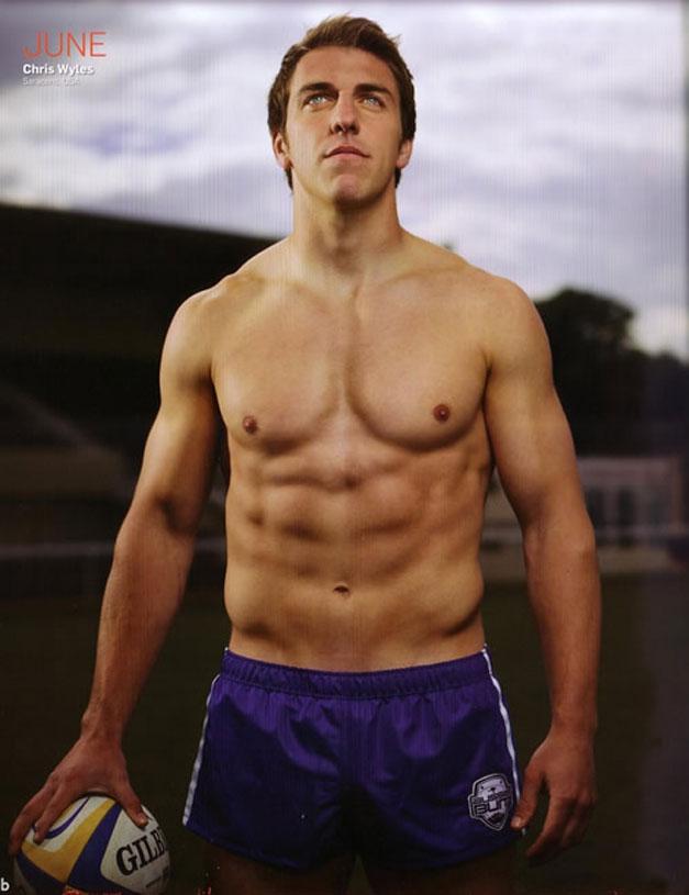 Календарь английских регбистов / Rugby-s Finest 2012 calendar - Chris Wyles