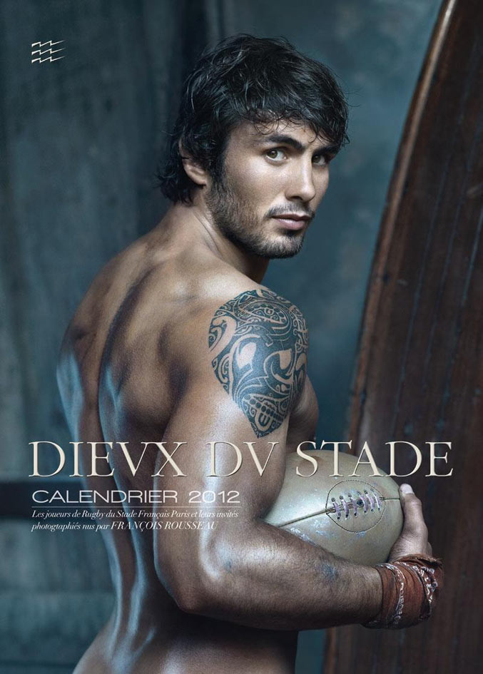 Календарь французских регбистов / Calendrier des Dieux du Stade 2012 - обложка