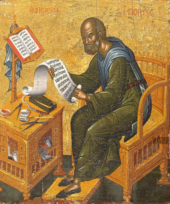 Святой Преподобный Иосиф Песнописец. Икона в монастыре Ватопед на Святой Горе Афон.